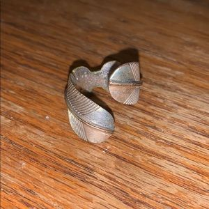 Lucky Brand Feather Ring